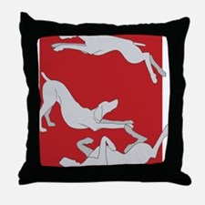 3WeimsRedTrans Throw Pillow