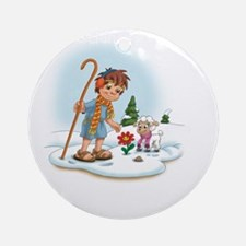 Christianity Is... Having The Coura Round Ornament