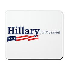 Hillary Clinton stripes Mousepad
