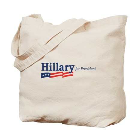 Hillary Clinton stripes Tote Bag