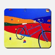 Blue bike 2 Mousepad