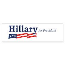 Hillary Clinton stripes Bumper Car Sticker