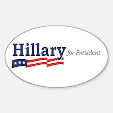 Hillary Clinton stripes Oval Decal