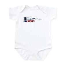 Hillary Clinton stripes Infant Bodysuit