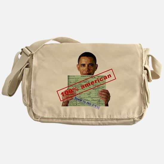 obama100-2 Messenger Bag