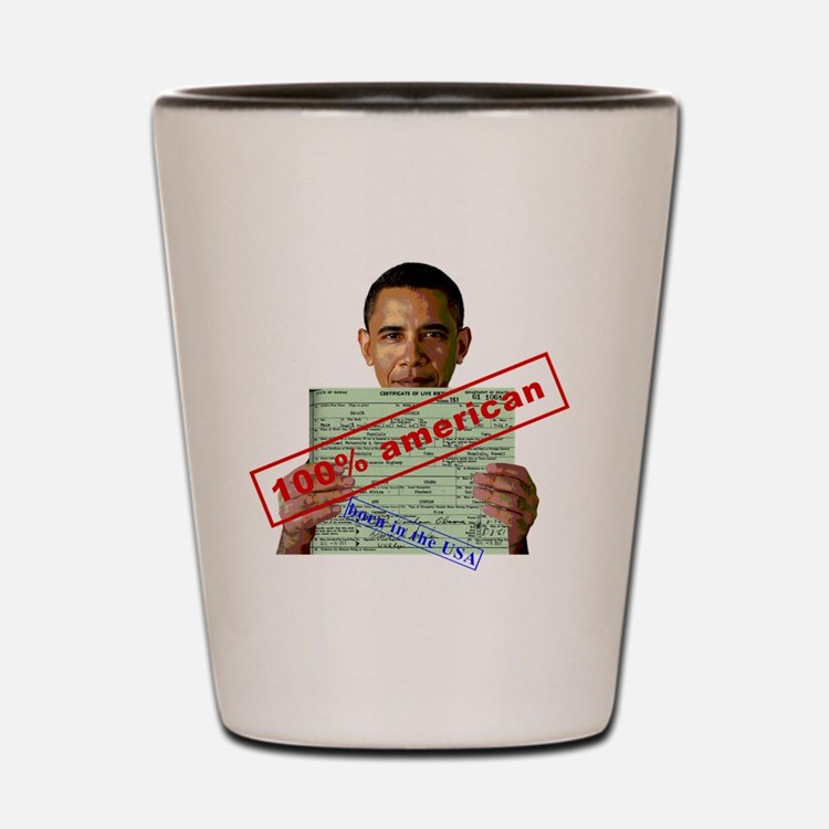 obama100-2 Shot Glass