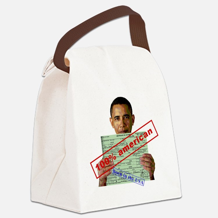 obama100-2 Canvas Lunch Bag