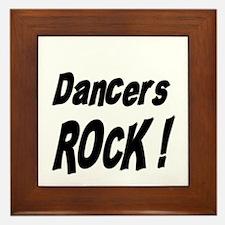 Dancers Rock ! Framed Tile