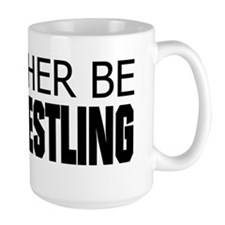 Rather Be Armwrestling Ceramic Mugs