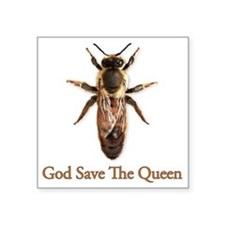 """God Save the Queen Square Sticker 3"""" x 3"""""""
