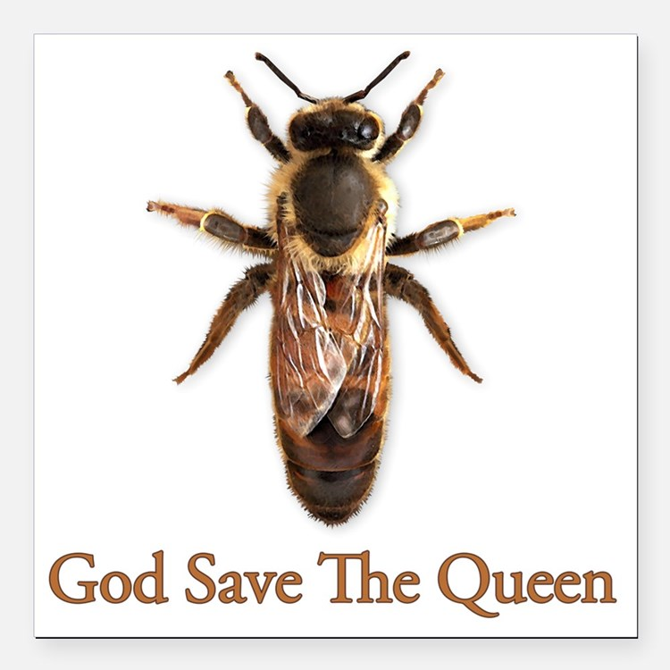 """God Save the Queen Square Car Magnet 3"""" x 3"""""""