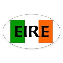 Eire Irish Flag Oval Decal