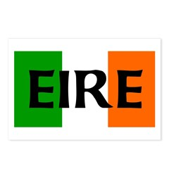 Eire Irish Flag Postcards (Package of 8)