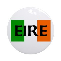 Eire Irish Flag Ornament (Round)