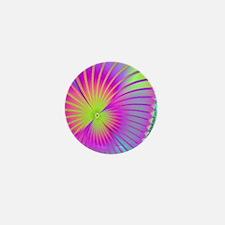 fractal-morningglory11x11 Mini Button