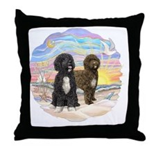 OceanSunrise-Two PWDs Throw Pillow
