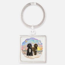 OceanSunrise-Two PWDs Square Keychain