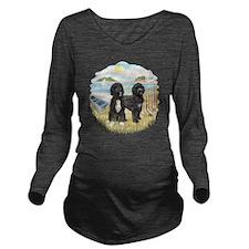 RowBoat-TwoblackPWD Long Sleeve Maternity T-Shirt