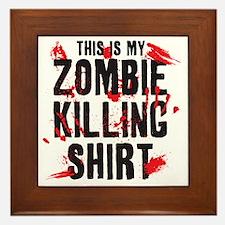 zombiekilling Framed Tile