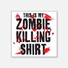 "zombiekilling Square Sticker 3"" x 3"""