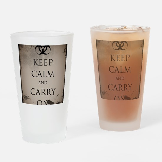 Vintage Keep Calm Drinking Glass