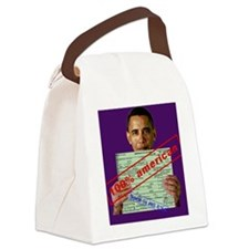 obama100-card Canvas Lunch Bag