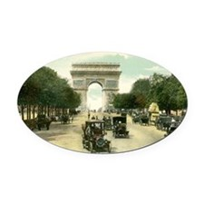 Paris 11 x 17 Oval Car Magnet