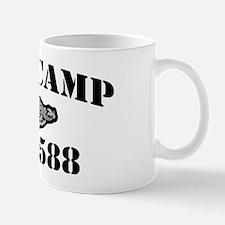 scamp black letters Mug