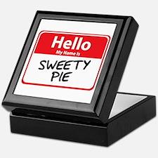 Hello My Name is Sweety Pie Keepsake Box