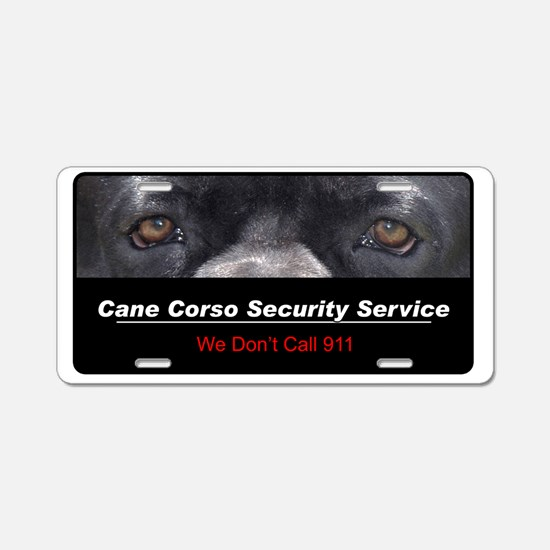 security4 Aluminum License Plate