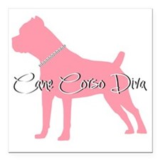 "diamonddiva2 Square Car Magnet 3"" x 3"""