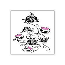 "skullroses Square Sticker 3"" x 3"""
