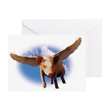 Flying Pig Greeting Card