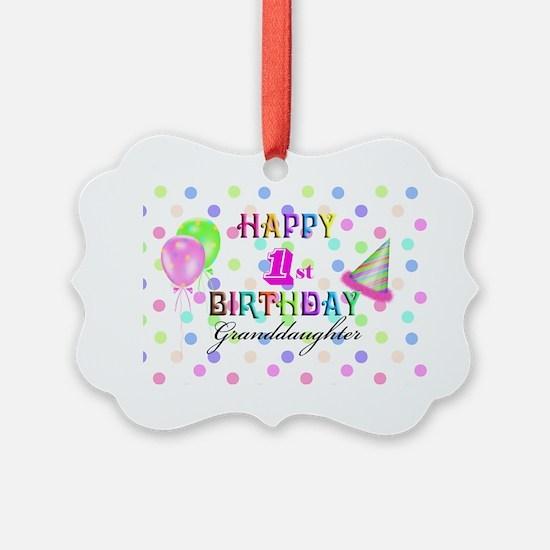 Granddaughter 1st Birthday Ornament