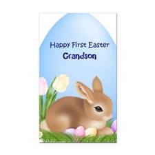 First Easter Grandson Rectangle Car Magnet