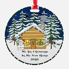 2016 My 1St Christmas Cute Cabin Ornament