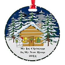 2014 My 1St Christmas Cute Cabin Ornament