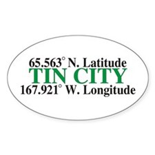 Tin City Latitude Oval Decal