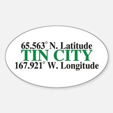 Tin City Latitude Oval Decal