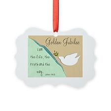 Golden Jubilee Sand Teal Ornament