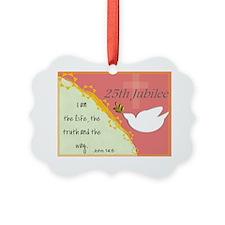 25th Jubilee Orange Ornament