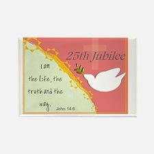 25th Jubilee Orange Rectangle Magnet