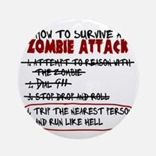 ZombieAttackSurvival Round Ornament