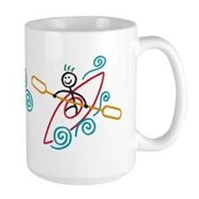 happy kayak color mug Mug