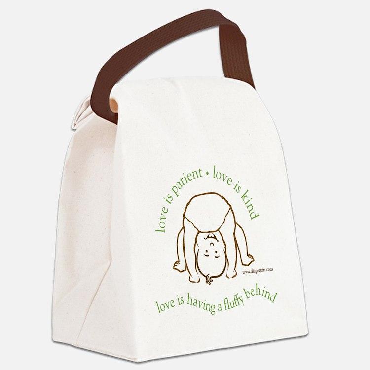 Fluffy Behind Canvas Lunch Bag