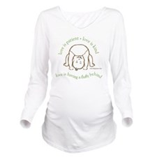 Fluffy Behind Long Sleeve Maternity T-Shirt