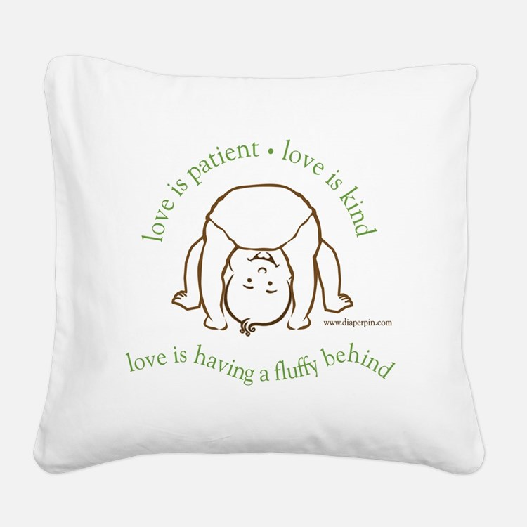 Fluffy Behind Square Canvas Pillow