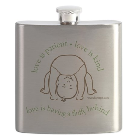 Fluffy Behind Flask