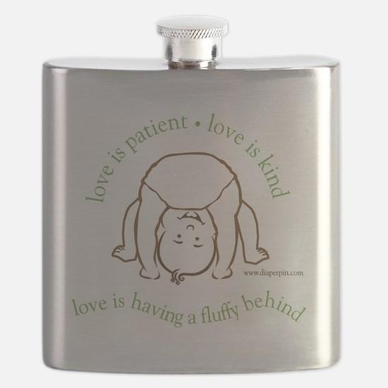 Fluffy Behind Flask
