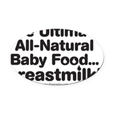 Ultimate Baby Food Oval Car Magnet